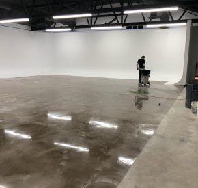 U shape cyc wall systems No floor paint